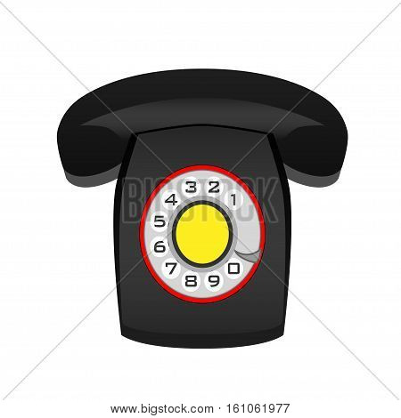 Regular classical phone on a white background. Vector illustration