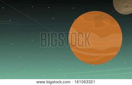 Outer space background collection stock vector illustration