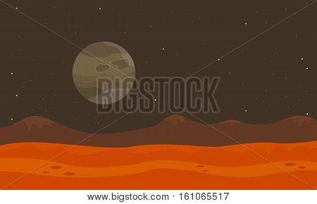 On planet desert landscape vector collection stock