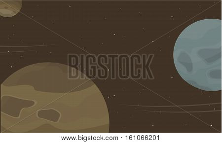 Space planet cartoon collection stock vector illustration