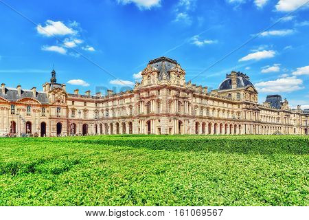 Paris,  France- July 06, 2016 : Louvre Museum In Paris. The Louvre Is The Biggest Museum In Word Wit