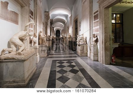 Interior Of Capitoline Museums In Palazzo Nuovo