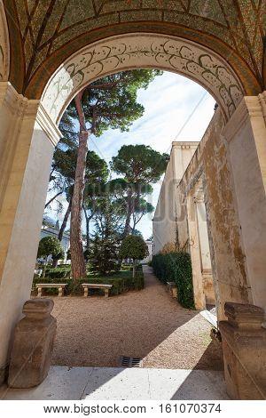 Arch Of Arcade Villa Giulia, Rome