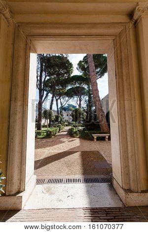 Gate Of Arcade Villa Giulia, Rome
