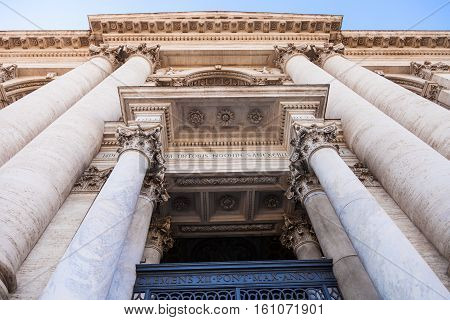 Columns Of The Lateran Basilica In Rome City