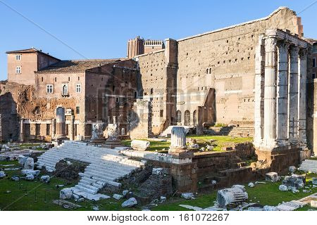 Forum Of Augustus On Ancient Roman Forums In Rome