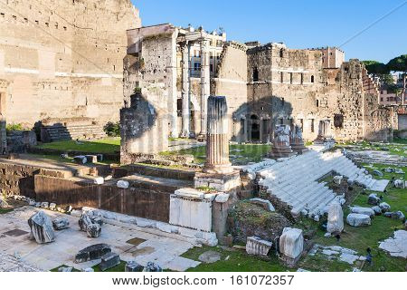 Ruins Of Forum Of Augustus In Rome