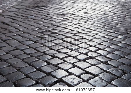 Cobble Stone Pavement In Rome City