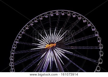 Bangkok - 1 May : Ferris Wheel In Asiatique The Riverfront, An Expansive Open-air Mall With River Vi