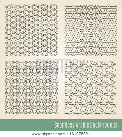 Set of Seamless Islamic backgrounds