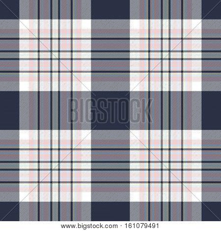 Seamless pattern check shirt fabric texture. Vector illustration.