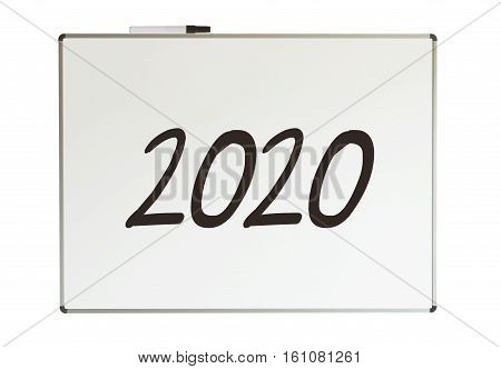 2020, Message On Whiteboard