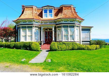 Port Townsend, Wa - April 12, 2014: Port Townsend Historic Building Frank Bartlett House