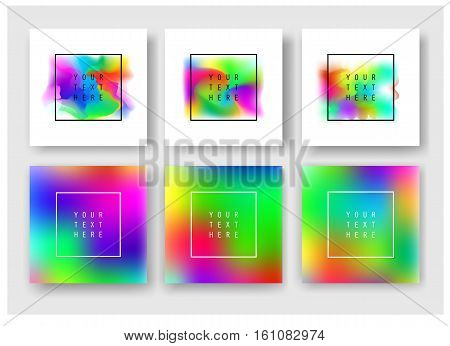 Fluid colors banners set. Cover template with abstract elements for business designs and backgrounds. Abstract fluid colors poster set.
