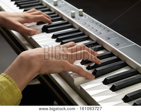 Piano Keys. Full-sized Keyboard.
