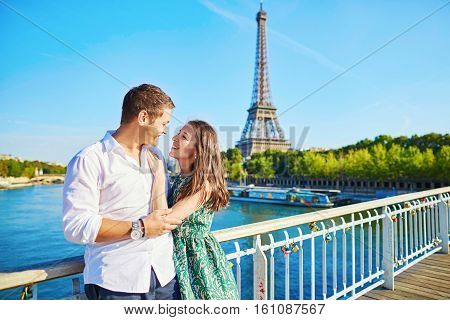 Young Romantic Couple Spending Their Vacation In Paris, France
