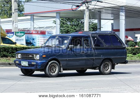 CHIANG MAI THAILAND - OCTOBER 31 2016: Private car Mazda Family mini Pick up truck. On road no.1001 8 km from Chiangmai Business Area.