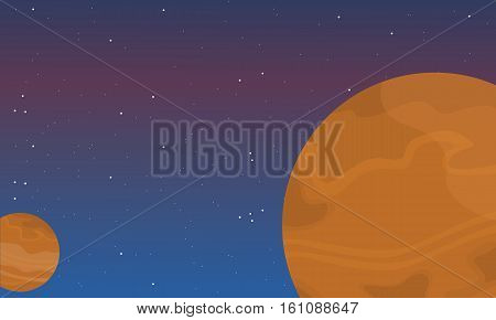 Vector art of space element collection stock