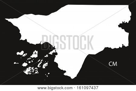 Guinea-Bissau Map black and white illustration country silhouette