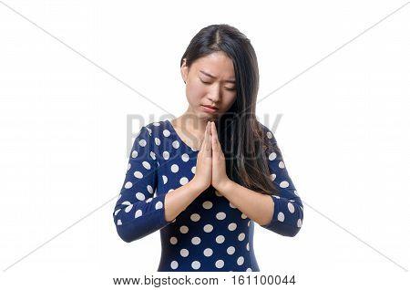 Young Chinese Woman Praying