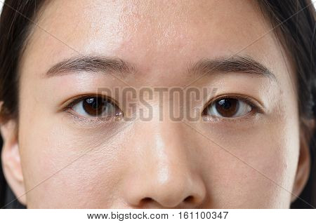 Close Up Of The Calm Eyes Of A Chinese Woman