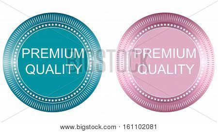 Premium Quality Badges set. abstract vector image