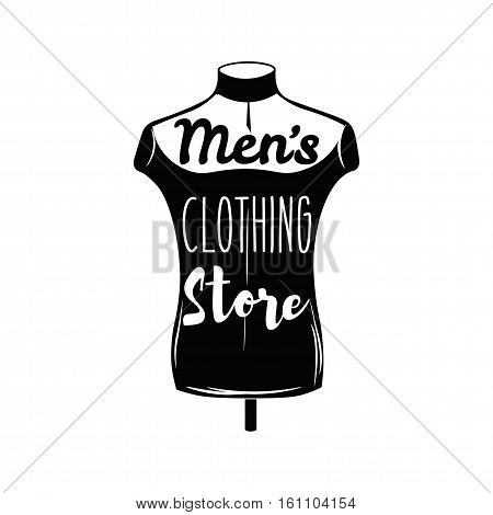 Male tailors dummy, mannequin. Men Clothing Store. Vector illustration Isolated On White Background