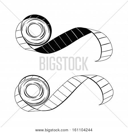 Tape measure tailor tool. Vector Illustration. Isolated On White Background