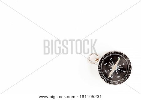 compass on white background concept direction of motion top view