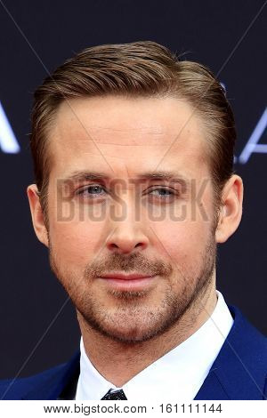 LOS ANGELES - DEC 7:  Ryan Gosling at the Emma Stone & Ryan Gosling Hand and Foot Print Ceremony at TCL Chinese Theater on December 7, 2016 in Los Angeles, CA