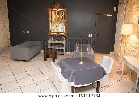 Classical Interior Of An House Ready For Loving Diner