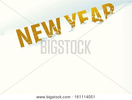 Holiday background with New Year sign - vector illustration