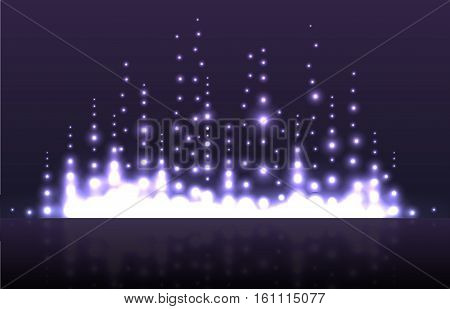 Illustration of musical equalizer with sequins. Vector element for your creativity