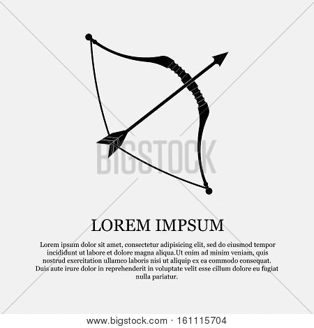 icon Cupid sign, cupid, bow and arrow, love, the connection of hearts, fully editable vector image