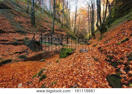 Аutumn landscape near the town of Teteven, Balkan Mountains, Bulgaria