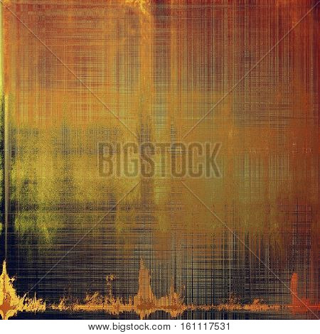 Old background with grunge decorative elements. Retro composition for your design. With different color patterns: yellow (beige); brown; gray; red (orange); black; pink