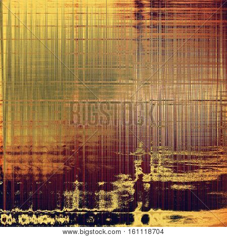 Grunge texture or background with retro design elements and different color patterns: yellow (beige); brown; gray; red (orange); purple (violet); pink