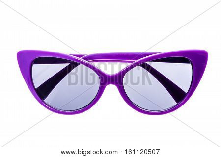Children Sunglasses, Sun Shades Or Spectacles Isolated On White Background.