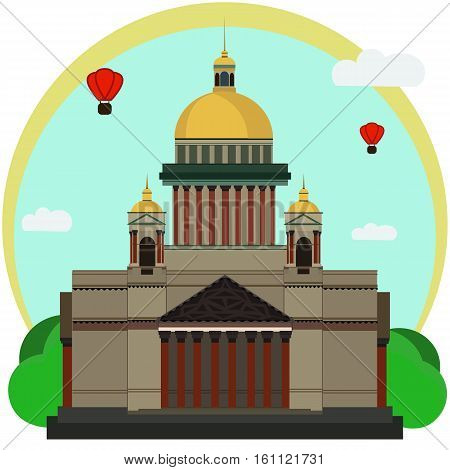 Vector illustration of Isaac's Cathedral. Flat Design.