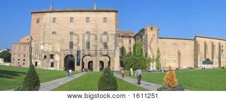 Pilotta Palace And Its Italian Garden, Parma, Italia, Panorama