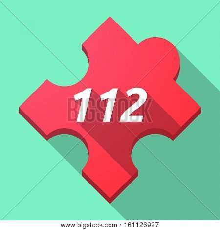 Long Shadow Puzzle Piece With    The Text 112
