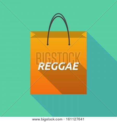 Long Shadow Shopping Bag With    The Text Reggae