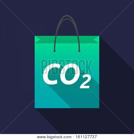 Long Shadow Shopping Bag With    The Text Co2
