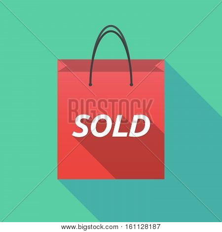 Long Shadow Shopping Bag With The Text Sold