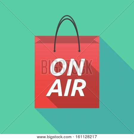 Long Shadow Shopping Bag With    The Text On Air