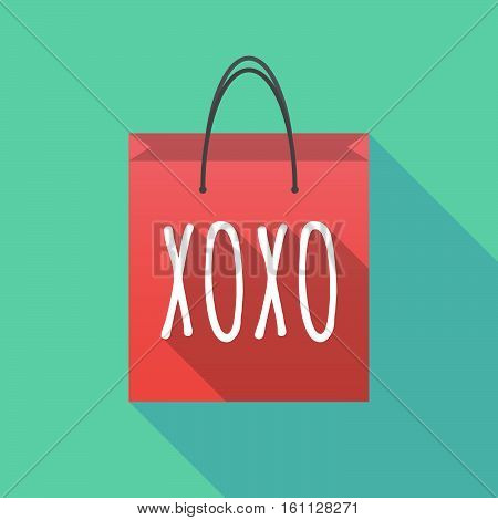 Long Shadow Shopping Bag With    The Text Xoxo