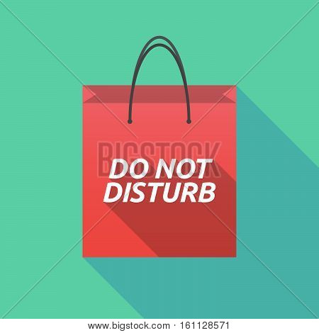 Long Shadow Shopping Bag With    The Text Do Not Disturb