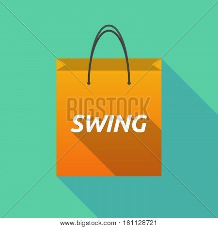 Long Shadow Shopping Bag With    The Text Swing