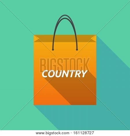 Long Shadow Shopping Bag With    The Text Country
