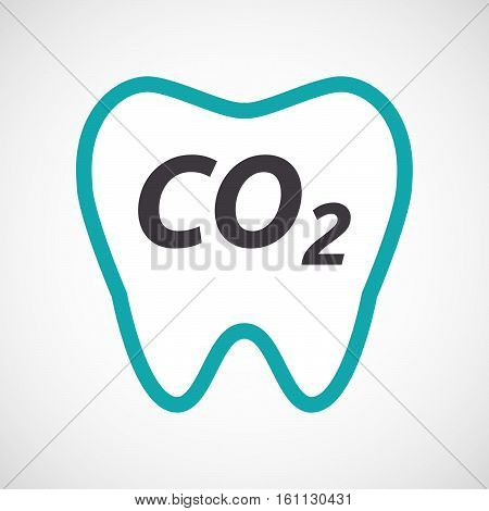 Isolated Tooth With    The Text Co2